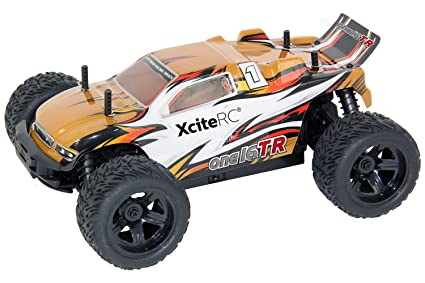 XCiteRC 30504000 rC voiture truggy one16 tR - 4WD ready to race 009547, avec, 2.4 gHz telecommande or, échelle 1:16