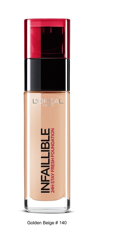 Buy L'Oreal Paris Infallible 24Hr Liquid Foundation, Golden Beige ...