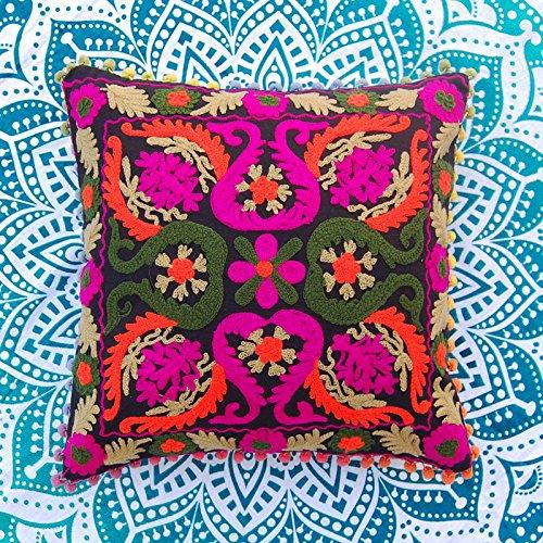 2PC Pack Deko Kissen bestickt bunte Baumwolle Kissen Usbekistan Style Suzani Kissenhülle Home Decor Living Room Decor