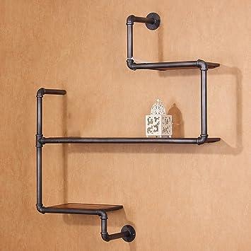 Haushaltsgegenstände Wasserpfeife Eisen Bucherregal Industrial Retro HolzWand hängen Display Stand Regal -CRS-ZBBZ