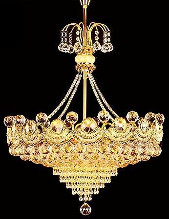 Un conjunto de araña --- Lámpara de araña de cristal redondo Mesa de comedor Estudio de dormitorio Lámpara de sala de estar (No incluir la fuente de luz)