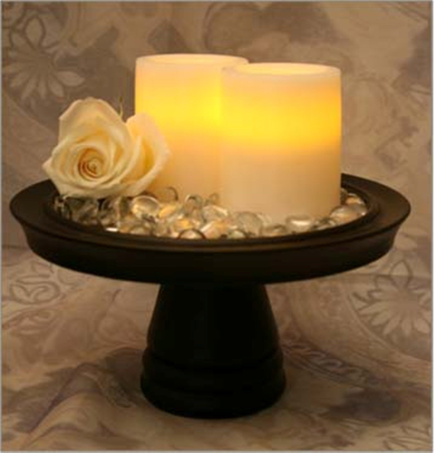 Flameless Vanilla-Scented Pillar Candle with Timer image
