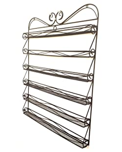 New Nail Polish Wall Rack Metal Frame with Curly Design 2014