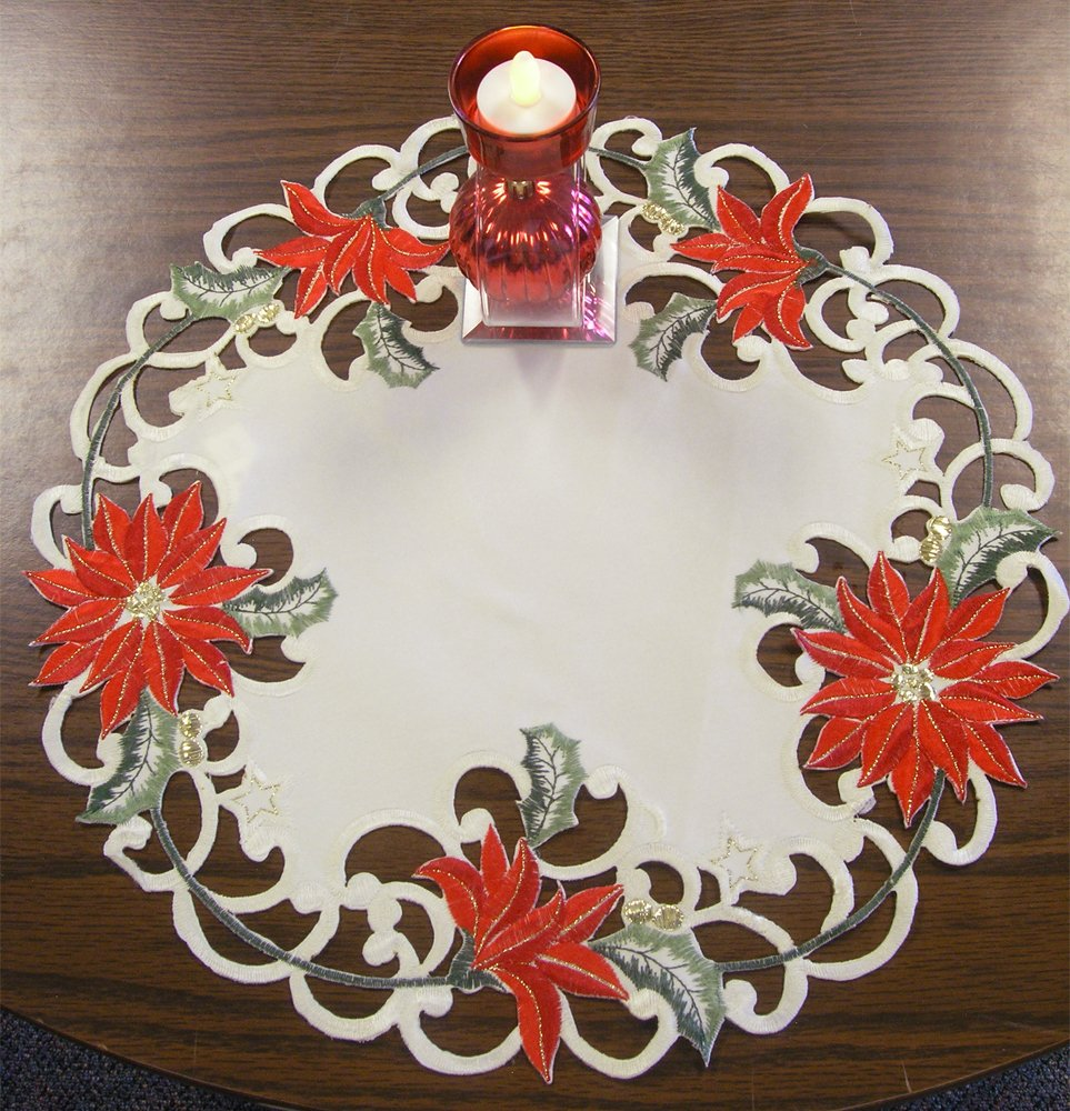 machine embroidered doilies