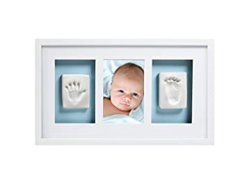 pearhead baby prints deluxe wall frame white