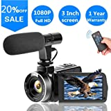 Video Camera Vlogging Camera with MicrophoneFull HD 1080p 30fps 24.0MP Video camcorder for Youtube Support Remote Controller (Color: o1)