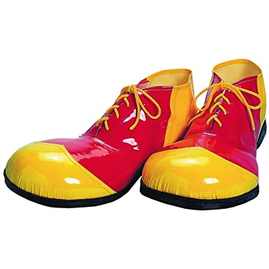 Amazon.com: Red And Yellow Vinyl Clown Shoes: Costume Footwear ...