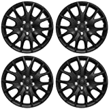 OxGord Hubcaps Standard Steel Wheels (Pack of 4) Wheel Covers - Snap On - Choose a Size Color (Black Matte, Fits 15