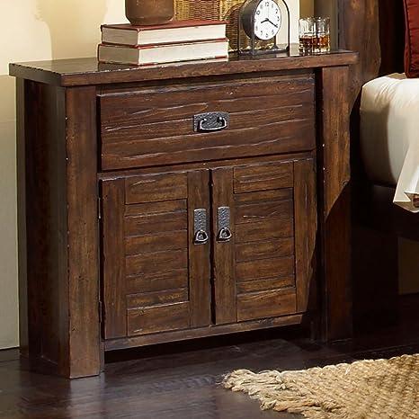 Progressive Furniture Trestlewood 1 Drawer Nightstand - Mesquite Pine