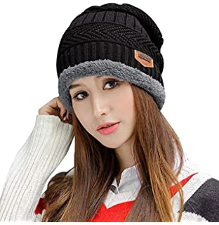 45e4313d911 HINDAWI Winter Slouchy Beanie Gloves for Women Knit Hats Skull Caps Touch  Screen