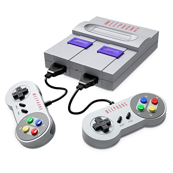 MEEPHONG Retro Game Console, HDMI HD Built-in 821 Classic Video Games (Color: Black)