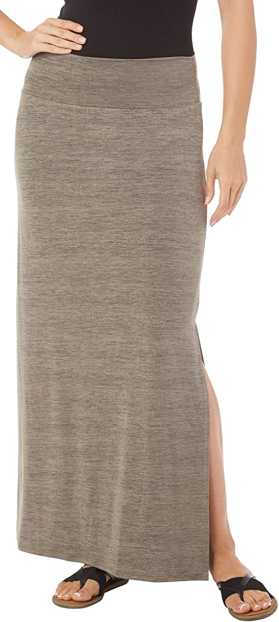AGB Womens Space Dye Side Split Maxi Skirt