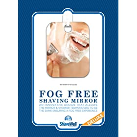 deluxe shave well fogfree shower mirror
