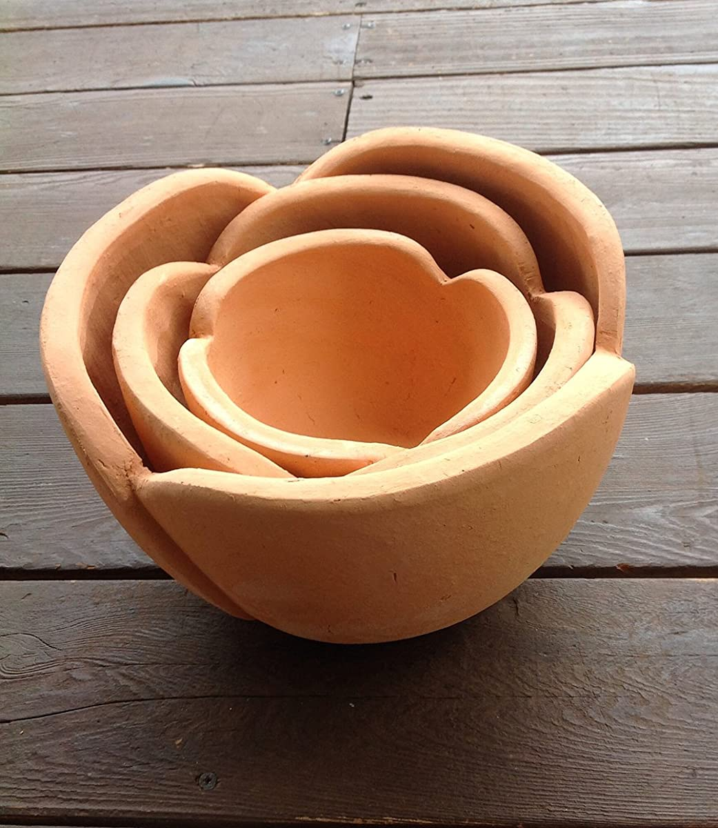 Terra Cotta Shaped Flower Pot, set 3