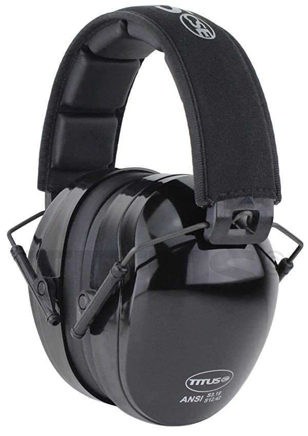 Titus Triple Black B4 Earmuffs - 26/32 NRR Noise Reduction Hearing Protection - Silence Any Environment (Premium, Without Pouch) (Color: Without Pouch, Tamaño: Premium)
