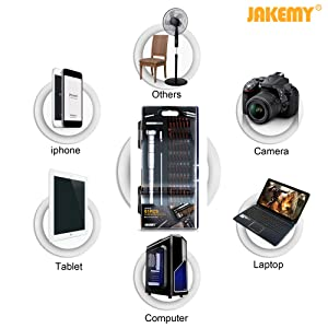 JAKEMY 61 in 1 S-2 Bits Precision Screwdriver Set Professional Repair Tool Kit Screwdriver Tool Kit with Flexible Shaft for iPhone X and other Smart Phone/Tablet/PC/Macbook/Game Console (Color: 8166-S2)