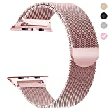 Tirnga Compatible with Apple Watch Band 38mm Rose Gold Milanese Loop Metal Strap for iWatch Bands (Color: Rose Gold, Tamaño: 38 mm)