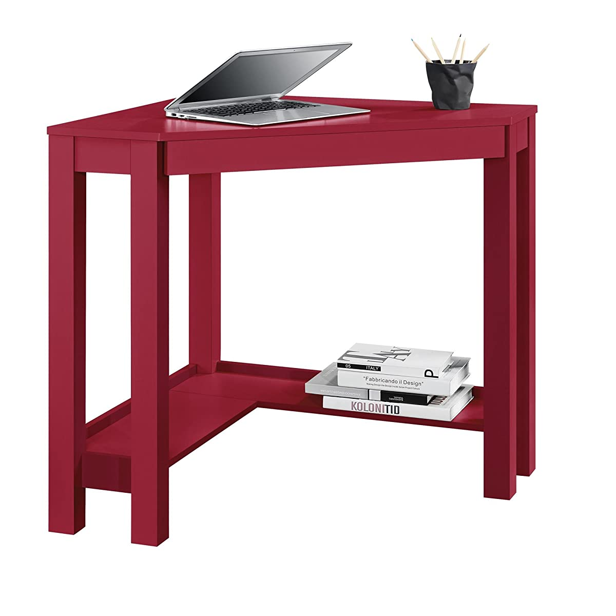 Altra Furniture Parsons Corner Desk, Red