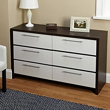 Simple Living Two Tone Six Drawer Chest