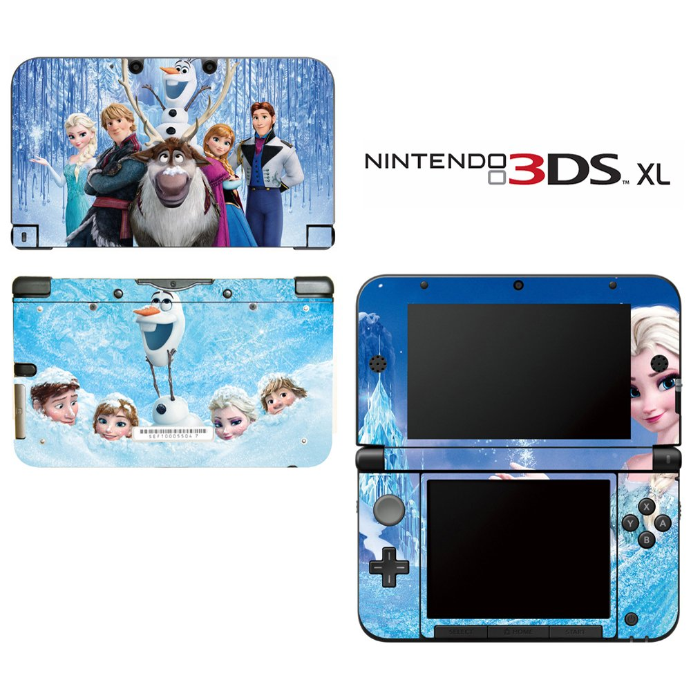 Frozen Decorative Video Game Decal Cover Skin Protector for Nintendo 3DS XL
