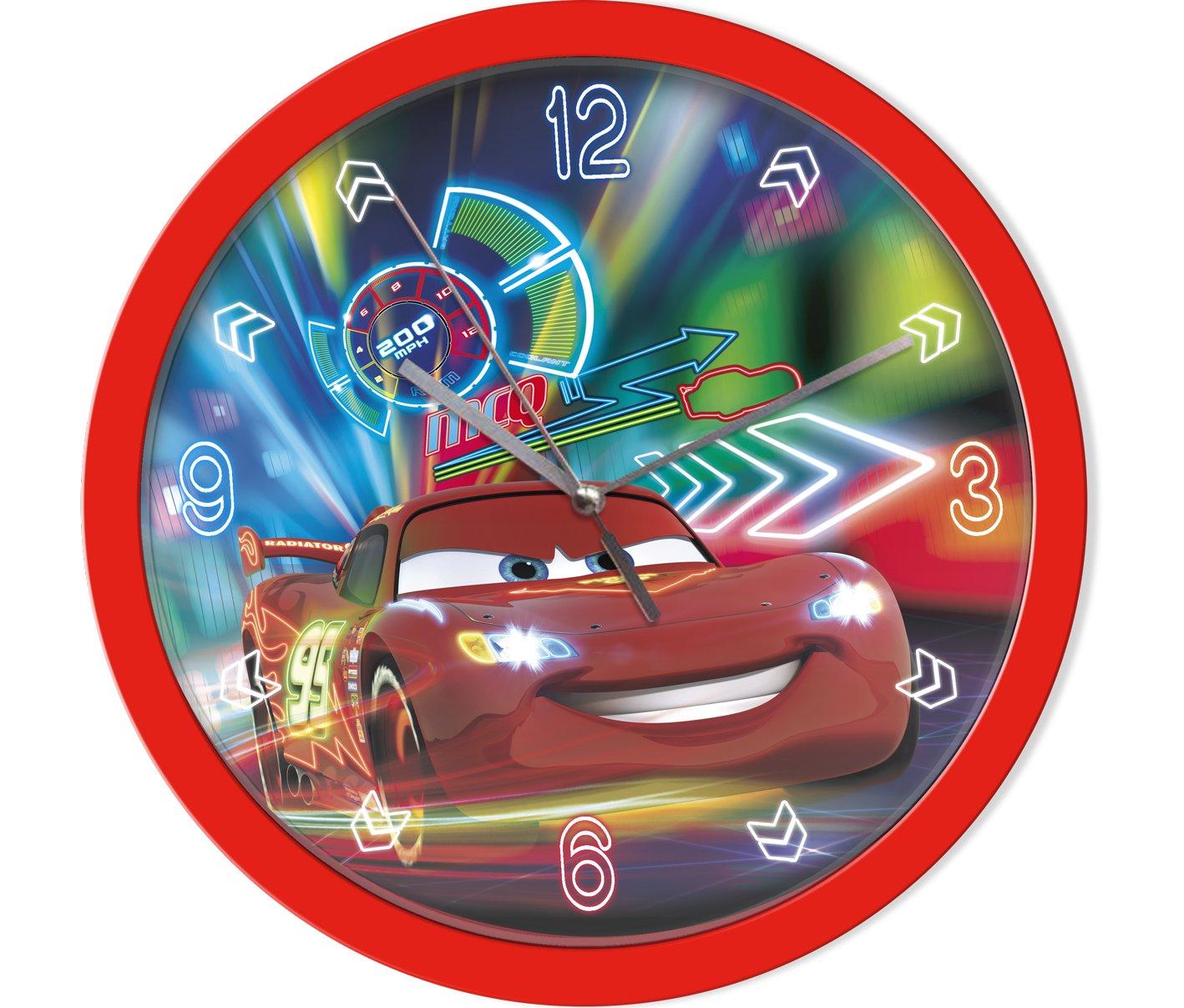 Disney Cars Wanduhr Kinderuhr (301637), Durchmesser 25 cm, rot/ blau günstig bestellen