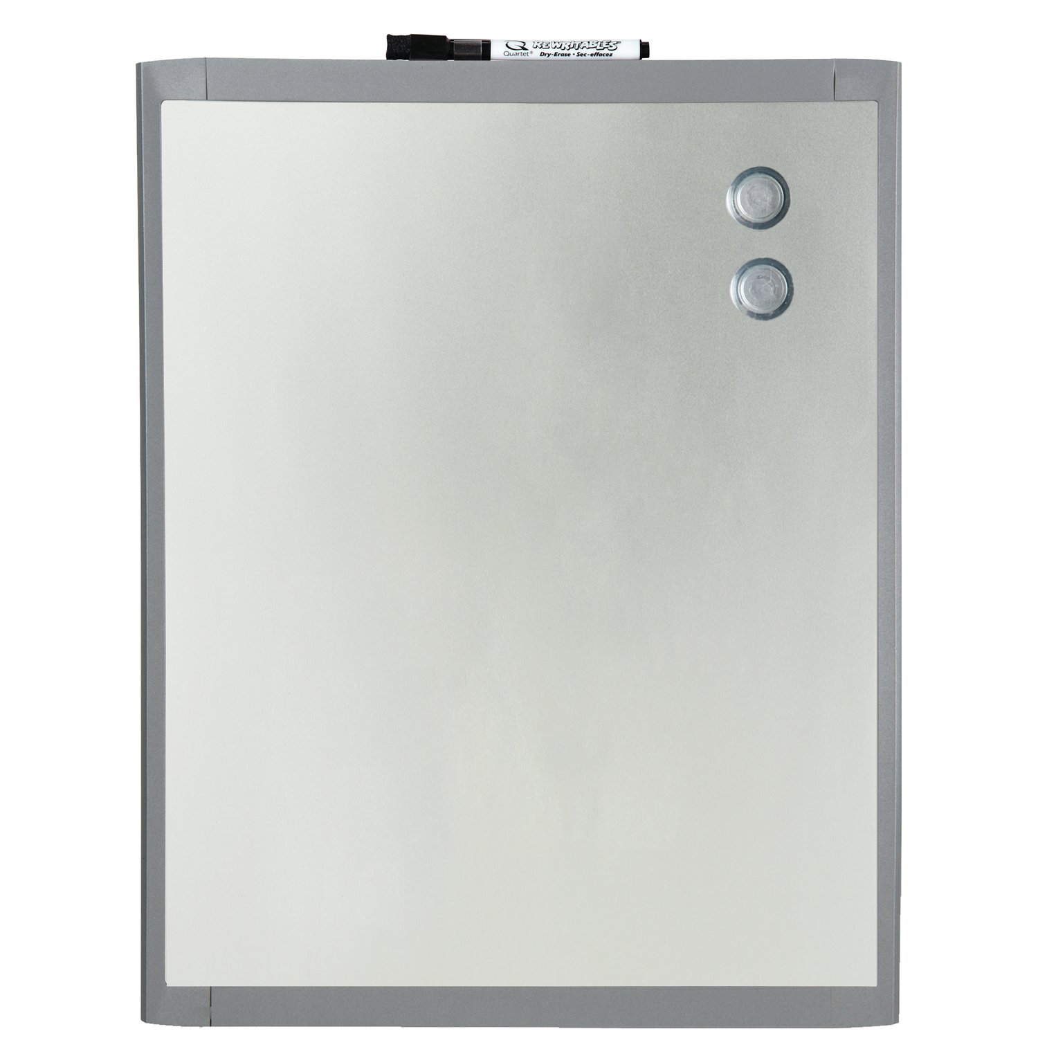 stainless steel dry erase boards clean and strong  - quartet stainless steel finish magnetic dryerase board  x  inchesgraphite gray frame (mhos)