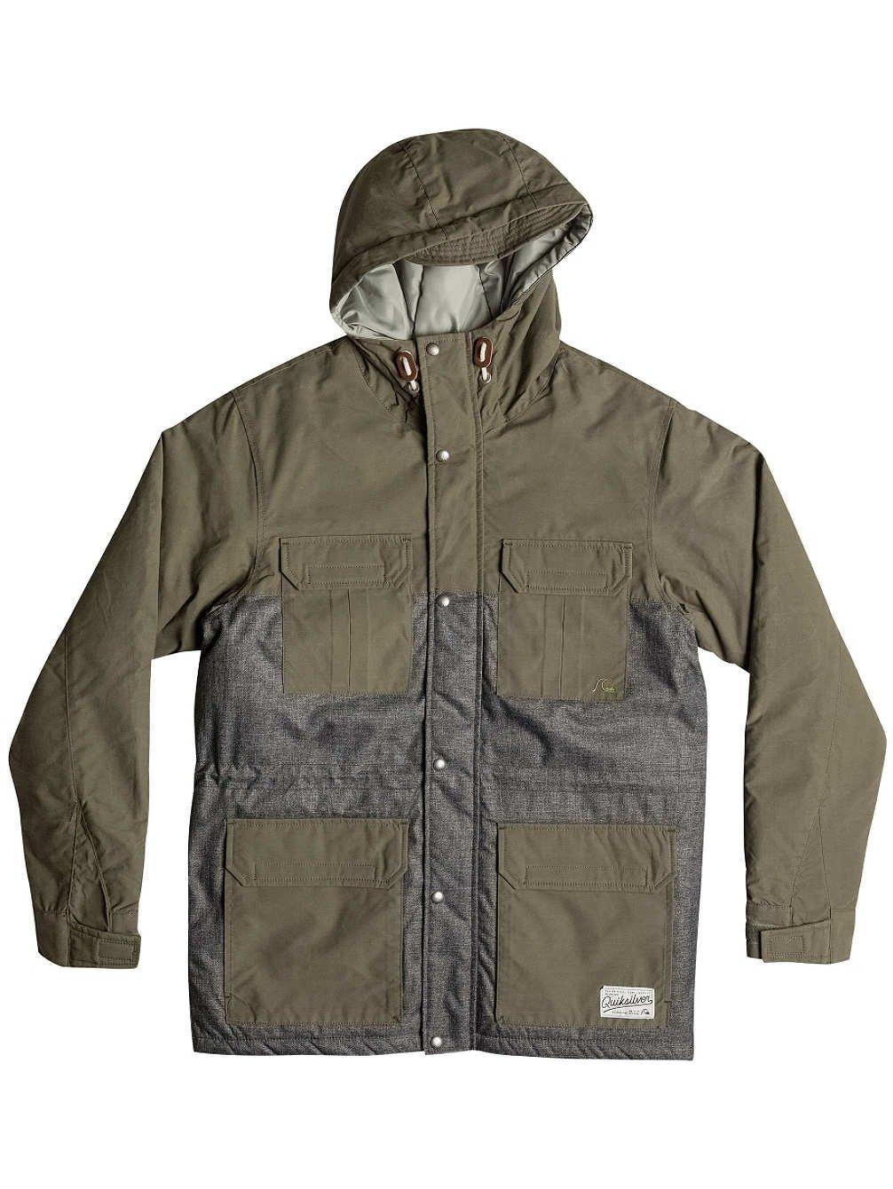 Quiksilver Longbay Wool Jacket – Anthracite günstig kaufen