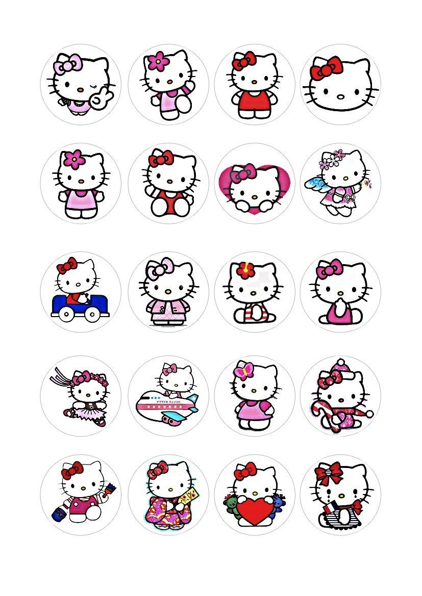 20 x Cakeshop decoración para pasteles comestibles de Hello Kitty   más información y comentarios
