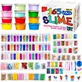 165 Pack DIY Slime Kit, Slime Making Kit Includes 12 Crystal Slime, Glitter Jars, Charms, Sugar Paper, Foam Beads, Fishbowl Beads, Toy Cups, Slices, Mica Powders and Tools for Kids Girls by WINLIP (Color: Big Slime Kit)