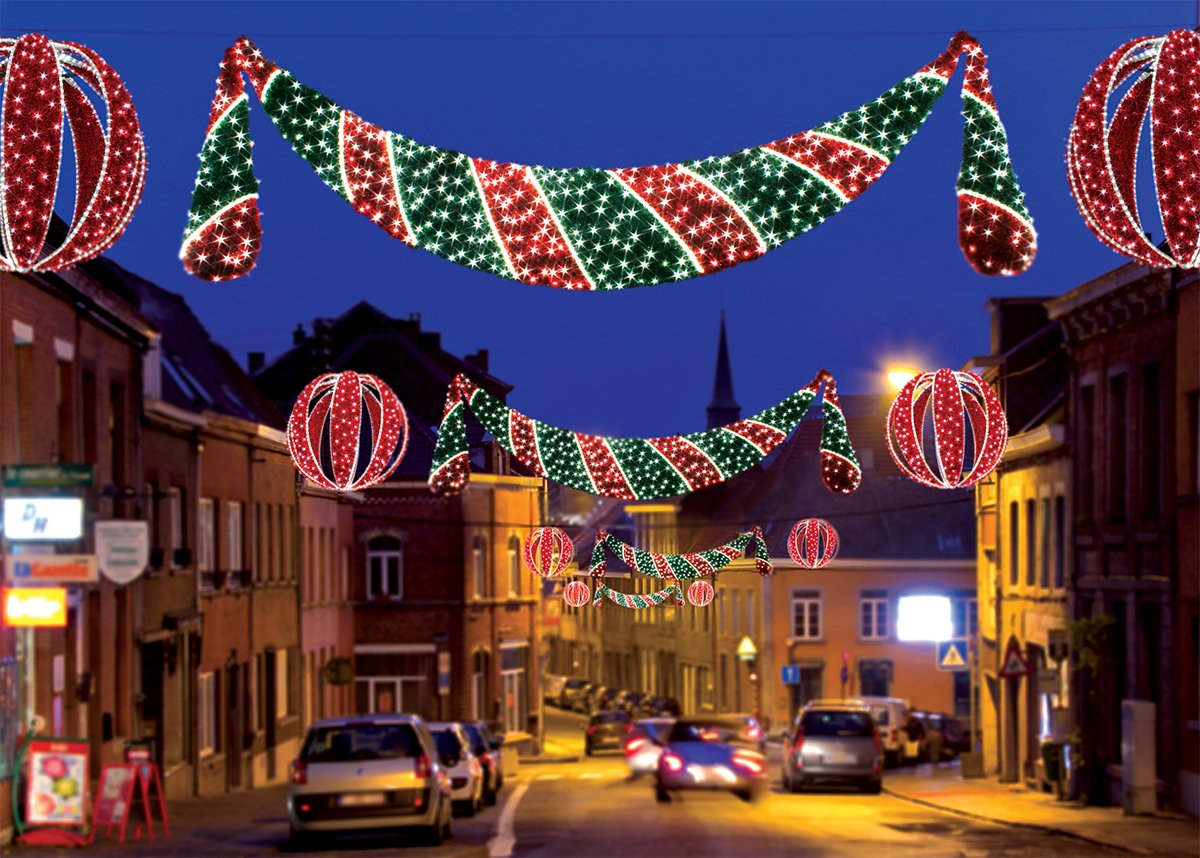 11' Commercial Grade LED Lighted Zurich Swag Christmas Decoration Display