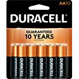 Duracell - CopperTop AA Alkaline Batteries - long lasting, all-purpose Double A battery for household and business - 10 count (Tamaño: 10 count)
