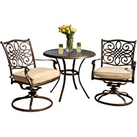 Hanover Traditions 3-Piece Deep Cushioned Outdoor Bistro Set