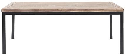 Safavieh Couchtisch, Holz, eichenfarben / schwarz, 57 x 118 x 46.48 cm