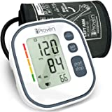 Automatic Blood Pressure Monitor for Home Use - Upper Arm Cuff Standard Size 8½ - 12½ inch - 60 Memory Sets - ?incl. 4 AA Batteries - Digital iProvèn BPM-634 [2019 Technology] (Color: Off White, Tamaño: large)