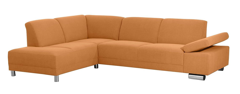 Coolnezz 30228-264-2051625 Sofa 2,5 Sitzer mit Ecksofa links Bandit Strukturgewebe, orange