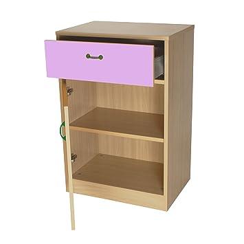 mobeduc armario, madera, rosa, 60x 90x 42cm
