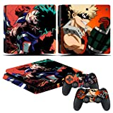 EBTY-Dreams Inc. - Sony Playstation 4 Slim (PS4 Slim) - My Hero Academia (Boku no Hero Academia) Anime Midoriya & Bakugou Vinyl Skin Sticker Decal Protector