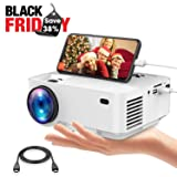 Movie Projector, DBPOWER Portable Mini Projector 2400lux with OSD Technology Directly Synchronizing Smart Phone Screen,176'' Display, 1080P/HDMI/VGA/USB/TV Box/Laptop/DVD/External Speaker Supported (Color: White(Upgraded), Tamaño: 2400 Lumens)