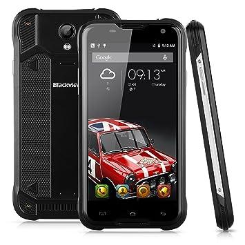 Blackview BV5000 5,0 '' 4G Smartphone Débloqué IP67 Etanche Anti-Poussière Antichoc MT6735P Quad Cores 1.0GHz 5000mAh Android 5.1 HD 1280 * 720 pixels Capacitif Multitouch Ecran 13M (caméra B) et 5M (caméra F) Dual SIM G