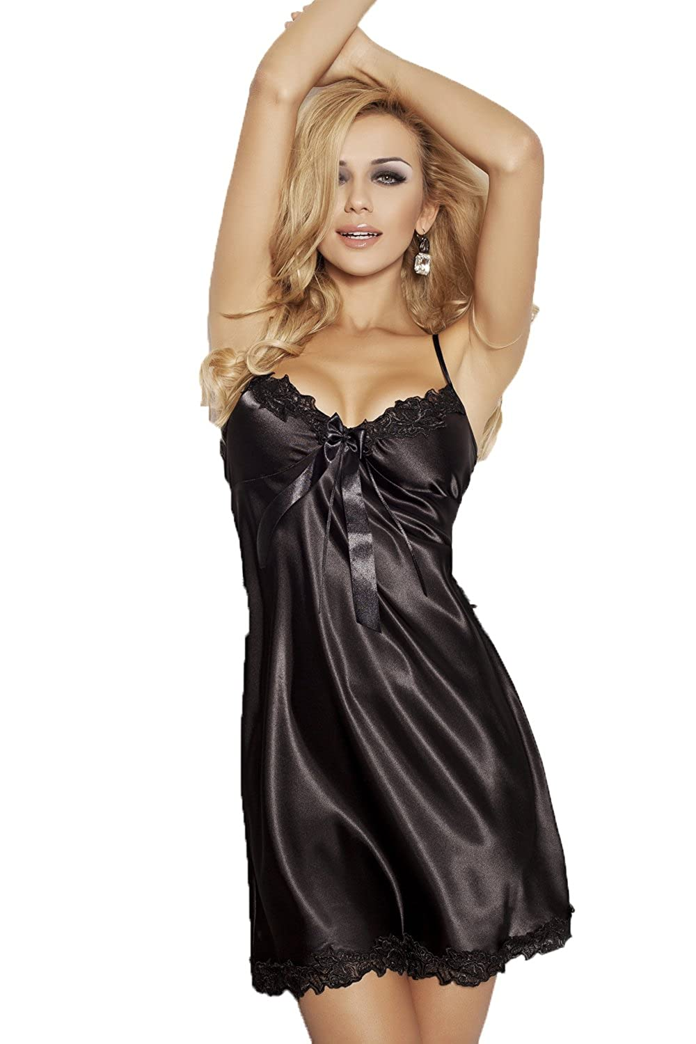 Lady-Mode Negligee aus Satin Rita (S - 2XL)