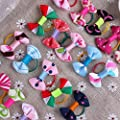Nsstar Puppy Dog Cute Hair Bows Pets for Grooming Pet Charms Hair Accessories with 1pcs Free Cup Mat Color Ramdon