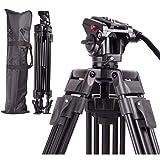 Regetek Professional Video Camera Tripod System Heavy Duty Aluminum Adjustable 65