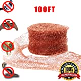 Haierc Copper Mesh For Mouse Rat Rodent Control, Snail Repel Control, Slugs Expeller, Snake Control,Bat Control,Insect Control,100FT,100% Copper