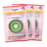 SpaLife Korean Soothing Spa Cooling Eye Pads - 48 Pads - With Fruit + Vegetable Extracts - Depuff Eyes + Reduce Dark Circles (Kiwi)