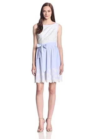 Ivy & Blu Women's Sleeveless Fit and Flare Dress with Belt, Multi, 2