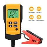 SUNER POWER Digital 12V Car Battery Tester Automotive Battery Load Tester and Analyzer of Battery Life Percentage,Voltage, Resistance and CCA Value for Flood, Gel, AGM, Deep Cycle Battery (Color: Yellow)