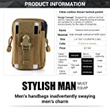 Tactical Molle Waist Bags (Army Green) Tactical Molle Pouch EDC Utility Gadget Belt Waist Bag Pocket Organizer with Cell Phone Holster Holder for iPhone 6/6 Plus 7/7Plus Samsung Galaxy S8 S7 S6 LG HTC (Color: Army Green)