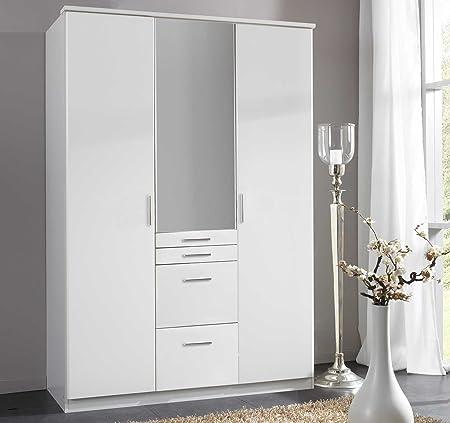 Kleiderschrank, Drehturenschrank, Drehturenkleiderschrank, Spiegelschrank, Schlafzimmerschrank, Wäscheschrank, alpinweiß, weiß, weiss, Spiegel