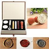 Wax Seal Stamp Kit,Mingting Vintage Wax Stamp Seal Kit Initial Letters Alphabet (Q) (Color: Q)