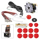 XCSOURCE Zero Delay Arcade Game USB Encoder PC Joystick DIY Kit for Mame Jamma & Other PC Fighting Games (Red) AC488 (Color: Red, Tamaño: Red)
